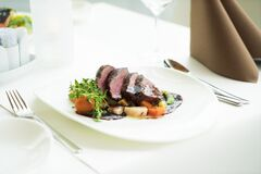 Meat and potatoes Stock Image