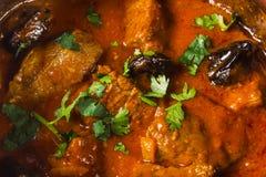 Meat  in ceramic cauldron Stock Photos