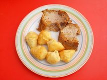 Meat with potatoes Stock Photography