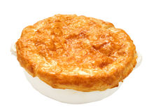 Meat potpie isolated Royalty Free Stock Images