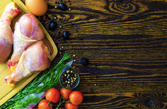 Meat, poultry. Royalty Free Stock Images