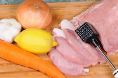 Meat preparation Royalty Free Stock Photography