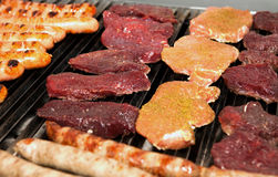 Meat prepared for roasting Stock Photos