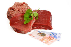 Meat prices Stock Image