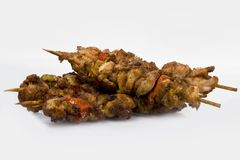 A meat product. The Ready shish kebab, their fresh meat Stock Image
