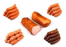 Meat product. Collection - isolated on white background Stock Images