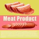 Meat product and sign Stock Image
