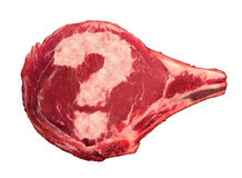 Meat Questions Stock Photo