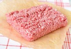 meat rå finhackad pork arkivbilder