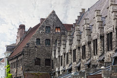Meat ranks in Ghent. Ancient building of meat ranks in Ghent Royalty Free Stock Image