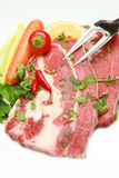 Meat, raw beef Stock Photos