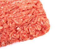 Meat. Raw pork meat ground beef isolated on white background Royalty Free Stock Images