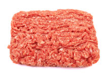 Meat. Raw pork meat ground beef isolated on white background Royalty Free Stock Image