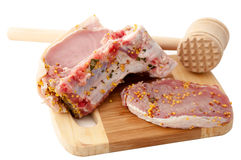 Meat ready for cooking Royalty Free Stock Photography