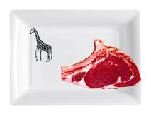 Meat. Red meat. Plate design to transport food Royalty Free Stock Photo