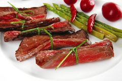 Meat and red spices Royalty Free Stock Photos
