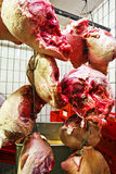 Meat in a refrigerated storage building Royalty Free Stock Photography
