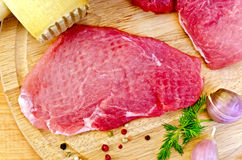 Meat repulsed with mallet Royalty Free Stock Images