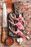 Meat on the rib of lamb Royalty Free Stock Photography