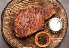 Meat Ribeye steak. Stock Photo