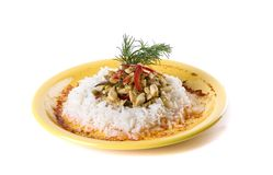 Meat with rice Stock Images