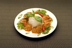 Meat with rice Stock Photo
