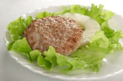 Meat rissole Stock Photo