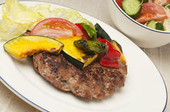 Meat rissole with vegetables Royalty Free Stock Image