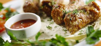 Meat Rissoles Royalty Free Stock Photography