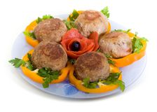 Meat rissoles Royalty Free Stock Image