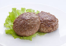 Meat rissoles Stock Photos