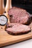 Meat roast slice closeup stock image