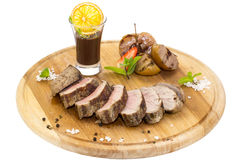 Meat roasted on a grill Royalty Free Stock Images