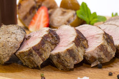 Meat Roasted On A Grill Royalty Free Stock Image