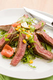 Meat with Rocket salad Royalty Free Stock Photos
