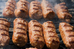 Meat roll at grill Royalty Free Stock Images