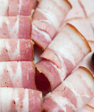 Meat roll prepared for  breakfast Royalty Free Stock Photography