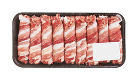 Meat rolls with bacon Stock Photo