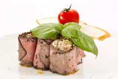 Meat rolls with cheese Royalty Free Stock Images