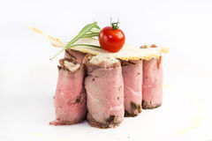 Meat rolls with meat and greens Royalty Free Stock Photo