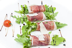 Meat rolls with meat and greens Royalty Free Stock Photography