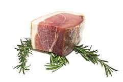 Meat and rosemary Stock Photos