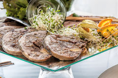 Meat roulade Stock Images