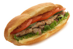 Meat sadwich Stock Images