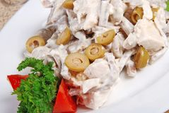 Meat salad 10 Royalty Free Stock Image