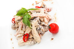 Meat salad. With some vegetables Stock Images