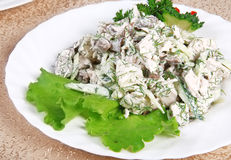 Meat salad 9 Royalty Free Stock Photography
