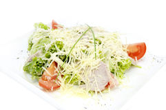 Meat salad with cheese royalty free stock photo
