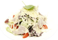 Meat salad with cheese royalty free stock photography
