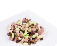 Meat salad with mushrooms. Stock Photography